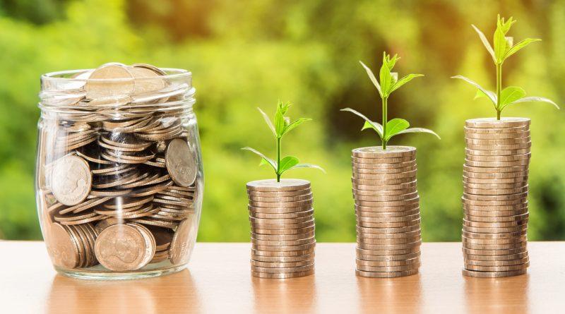pieniądze - rosnące oszczędności lokata